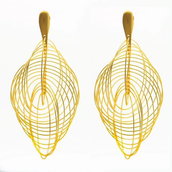 1000 Circle Drop Earrings - Item # ER0187 - Reliable Gold Ltd.