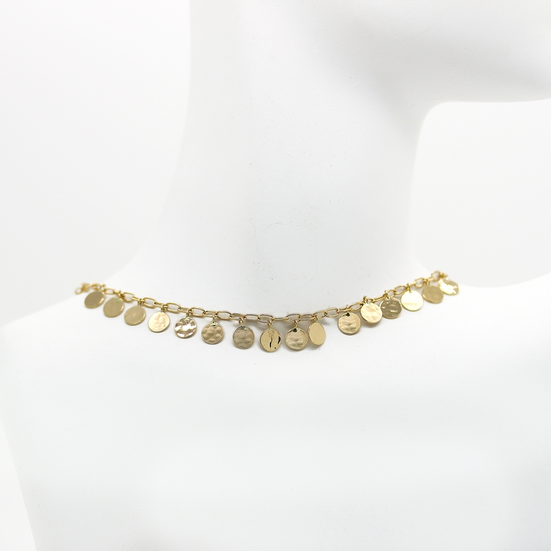 Gold Disc Necklace - Item # N0121 - Reliable Gold Ltd.