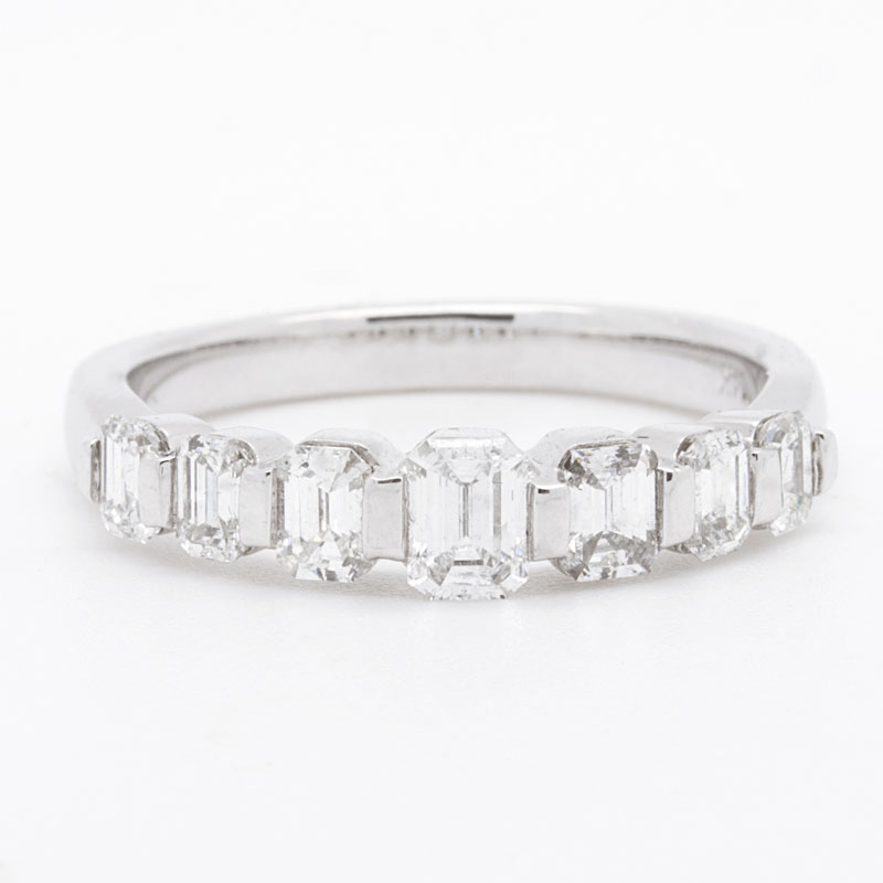 Graduated Emerald Cut Diamond Band - Item # R3133 - Reliable Gold Ltd.