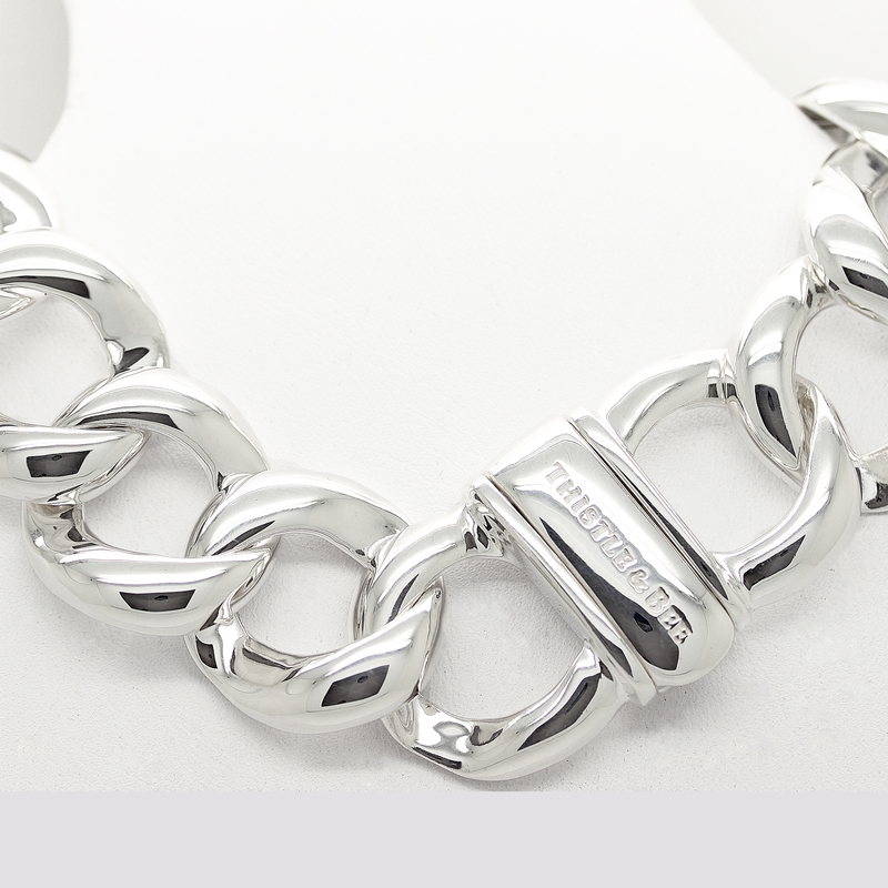 Heavy Cable Link Sterling Silver Bracelet - Item # B0008 - Reliable Gold Ltd.