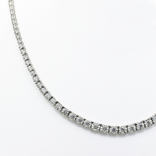 Graduated Diamond Line Necklace - Item # N0280 - Reliable Gold Ltd.