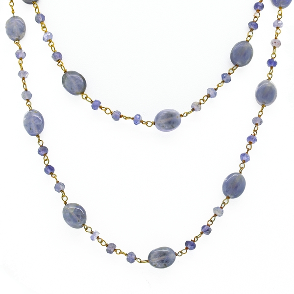 Iolite Bead Necklace - Item # BD014 - Reliable Gold Ltd.