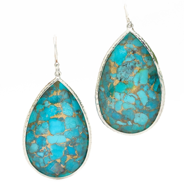 Ippolita Turquoise Drop Earrings - Item # ER0409 - Reliable Gold Ltd.
