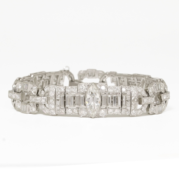 9 Carat Diamond Marquise Bracelet  - Item # JHM02 - Reliable Gold Ltd.