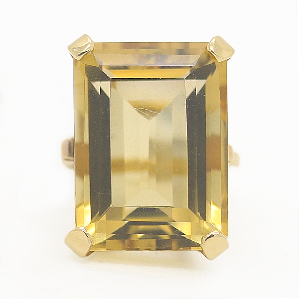 Large Citrine Cocktail Ring - Item # R6200 - Reliable Gold Ltd.