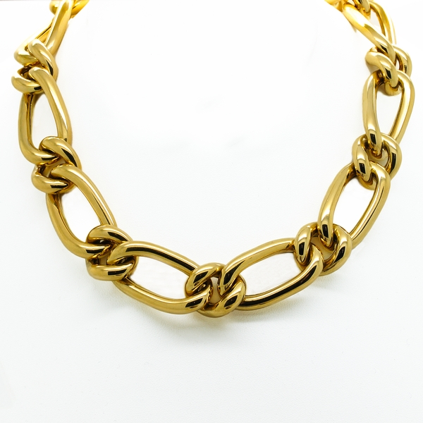 Large Link Yellow Gold Necklace - Item # JM0022 - Reliable Gold Ltd.