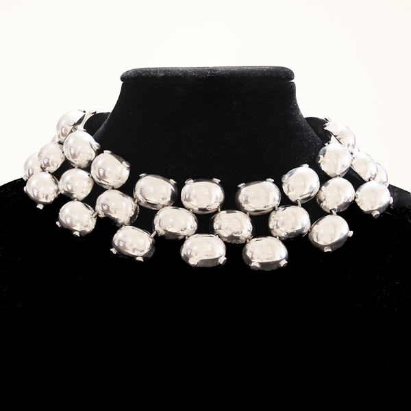 Large Silver Collar Necklace - Item # N0304 - Reliable Gold Ltd.
