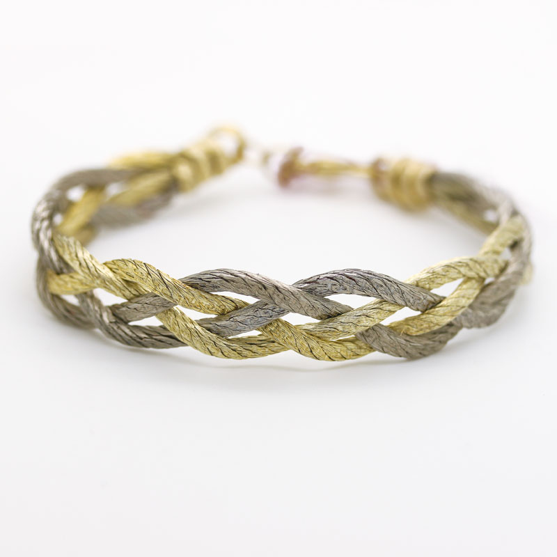 Lisa Mackey Silver & Gold Triple Braided Bracelet - Item # B0027 - Reliable Gold Ltd.
