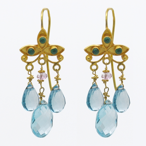London Blue Topaz Earrings - Item # ER0100 - Reliable Gold Ltd.
