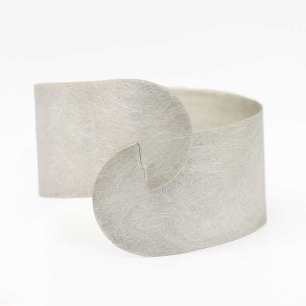 Brushed Silver Overlapping Cuff - Item # B0212 - Reliable Gold Ltd.