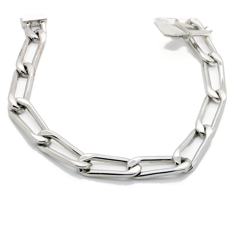 Sterling Silver Men's Link Bracelet - Item # B5168 - Reliable Gold Ltd.