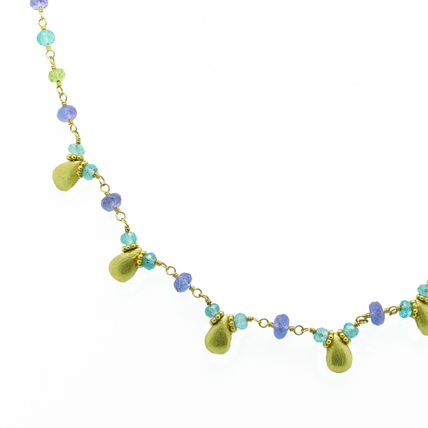 Multicolored Gemstone Necklace - Item # N1376 - Reliable Gold Ltd.