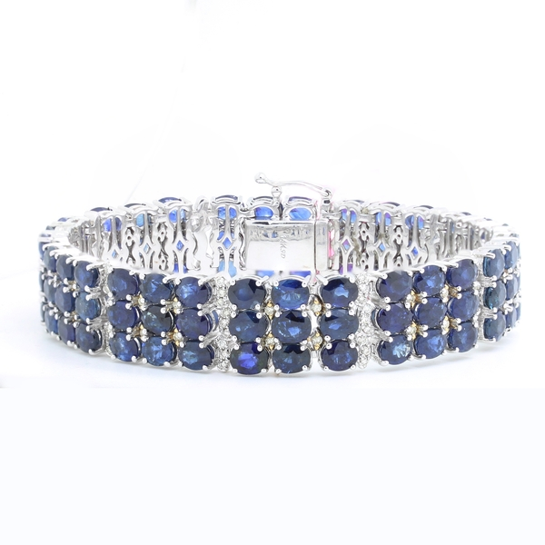 Multi-Row Sapphire Bracelet - Item # GSM01 - Reliable Gold Ltd.
