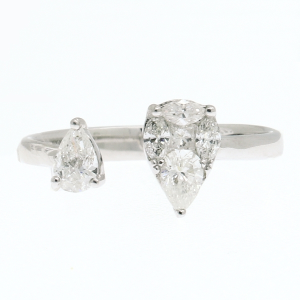 Open Front Pear Shaped Diamond Ring - Item # R0343 - Reliable Gold Ltd.