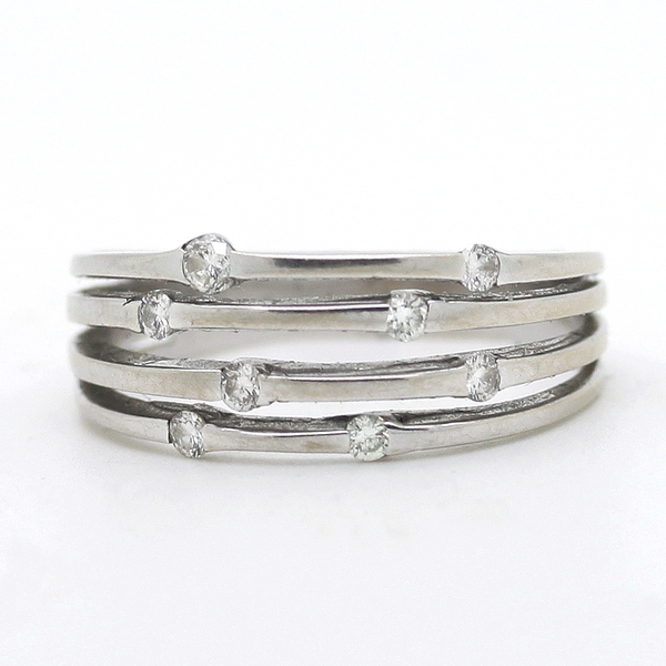 Open Row Diamond Band Ring - Item # R0368 - Reliable Gold Ltd.