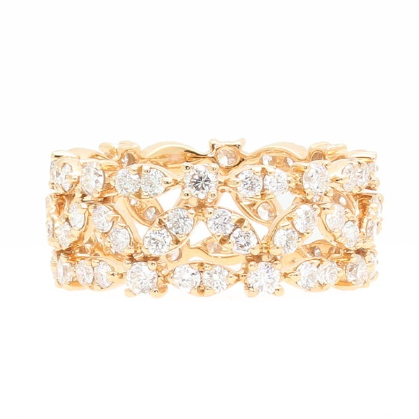 Diamond Openwork Band In Rose Gold - Item # R1775 - Reliable Gold Ltd.