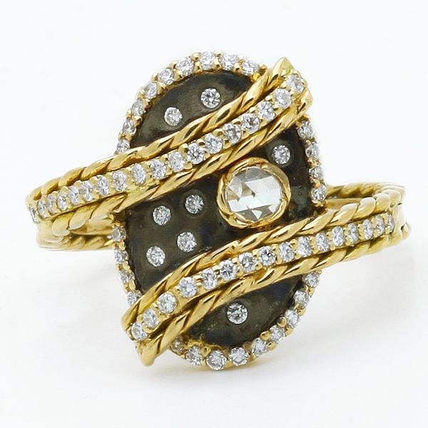 Contemporary Abstract Diamond Ring - Item # HM0125 - Reliable Gold Ltd.