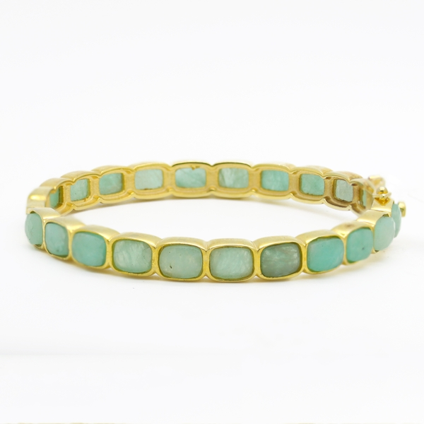 Chalcedony Bangle Bracelet - Item # B0256 - Reliable Gold Ltd.