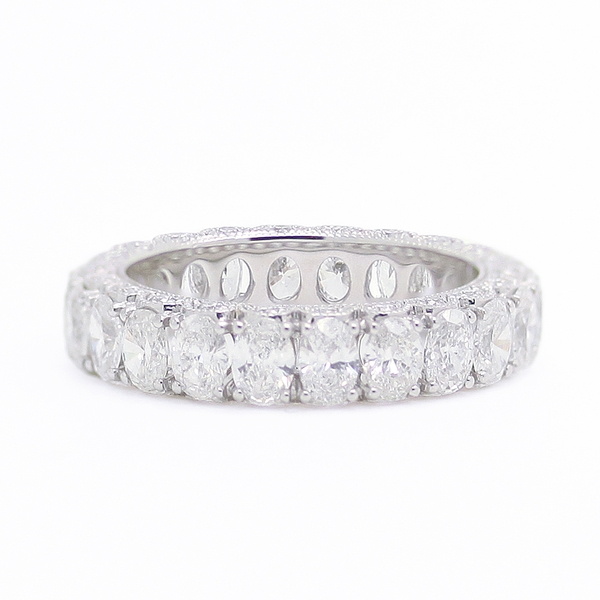 Oval Diamond Eternity Band - Item # R0317 - Reliable Gold Ltd.