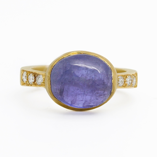 Tanzanite & Diamond Ring - Item # R0327 - Reliable Gold Ltd.