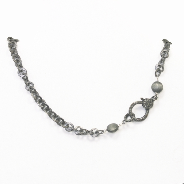 Oxidized Sterling Silver Necklace - Item # N0245 - Reliable Gold Ltd.