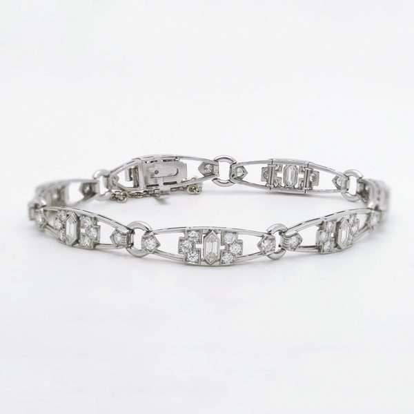 Diamond Platinum Bracelet - Item # CEC01 - Reliable Gold Ltd.