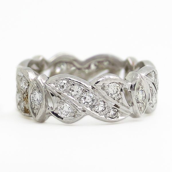 Openwork Diamond Band In Platinum - Item # R0436 - Reliable Gold Ltd.