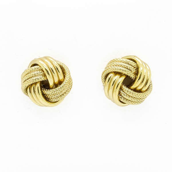 Yellow Gold Love Know Earrings - Item # JM15512 - Reliable Gold Ltd.