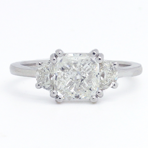 Radiant Cut Diamond Engagement Ring - Item # R0601 - Reliable Gold Ltd.