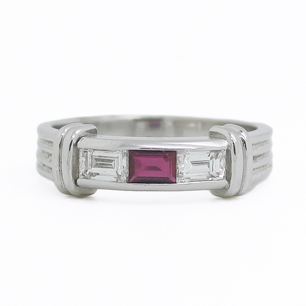Ruby & Diamond Baguette Band - Item # R0369 - Reliable Gold Ltd.