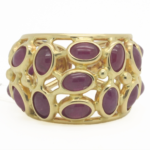 Wide Openwork Ruby Band Ring - Item # JM0018 - Reliable Gold Ltd.