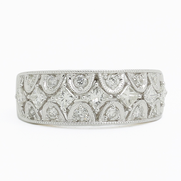 Scalloped Diamond Band - Item # JHM0029 - Reliable Gold Ltd.