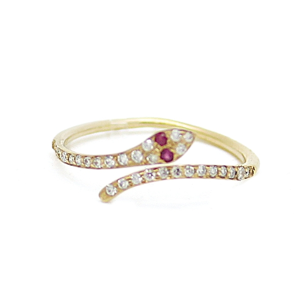 Diamond Snake Ring - Item # R0528a - Reliable Gold Ltd.
