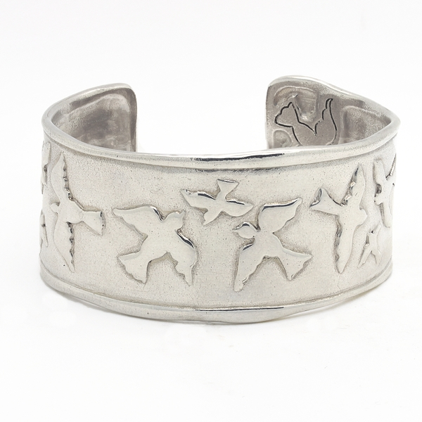 Birds In Flight Silver Cuff - Item # TRM006 - Reliable Gold Ltd.