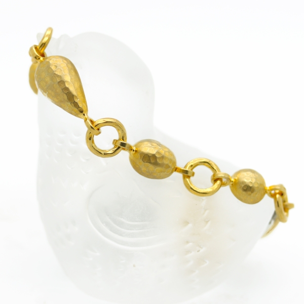 24K Gold Plated Flexible Bracelet - Item # B0204 - Reliable Gold Ltd.