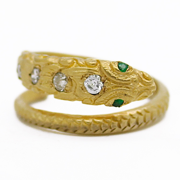 Textured Snake Ring  - Item # R0438 - Reliable Gold Ltd.