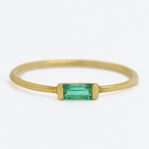 Slim Emerald Band - Item # R0411 - Reliable Gold Ltd.