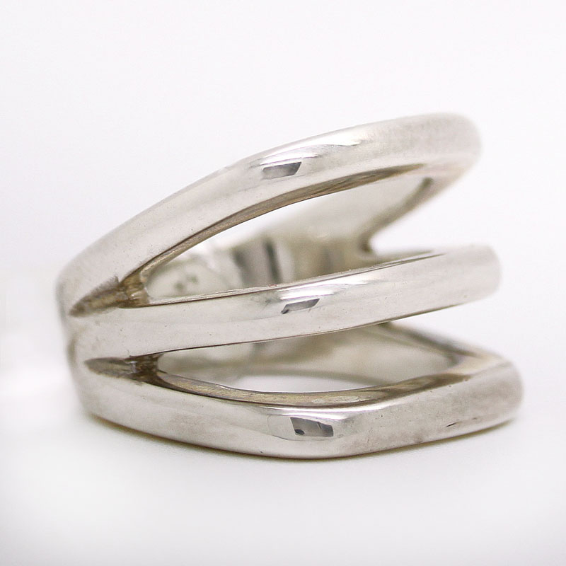 Sterling Silver Wide Band Ring - Item # R6148 - Reliable Gold Ltd.