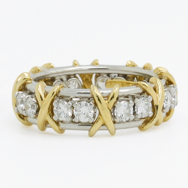 Diamond Band By Tiffany & Co - Item # JHM055 - Reliable Gold Ltd.