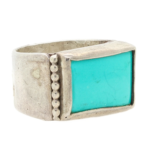 Sterling Silver Turquoise Ring - Item # R0502 - Reliable Gold Ltd.
