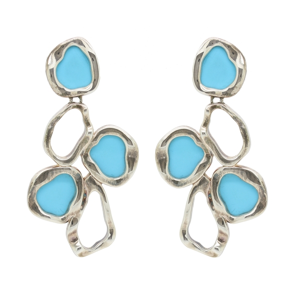 Turquoise Drop Earring - Item # ER0065 - Reliable Gold Ltd.