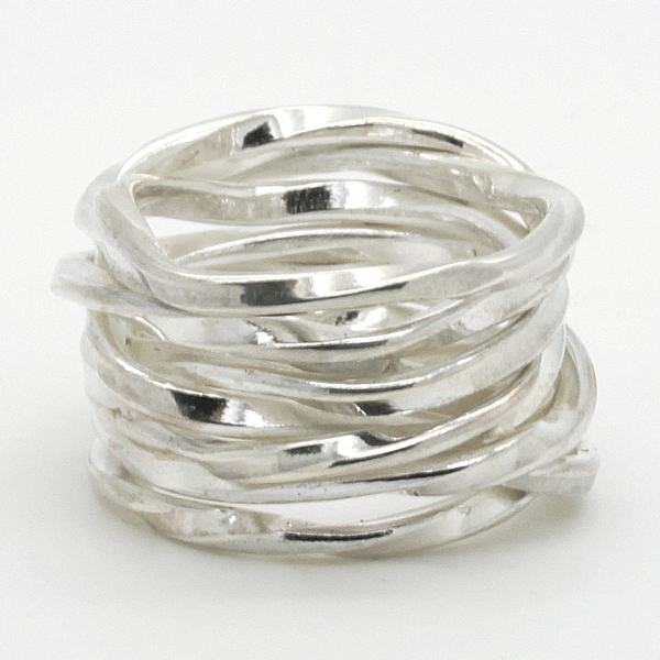 Wavy Sterling Silver Band Ring - Item # R00243 - Reliable Gold Ltd.