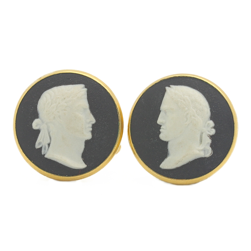 Wedgewood Cameo Cufflinks - Item # CL2537A - Reliable Gold Ltd.