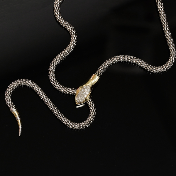 Two Toned Adjustable Snake Necklace - Item # N1344 - Reliable Gold Ltd.