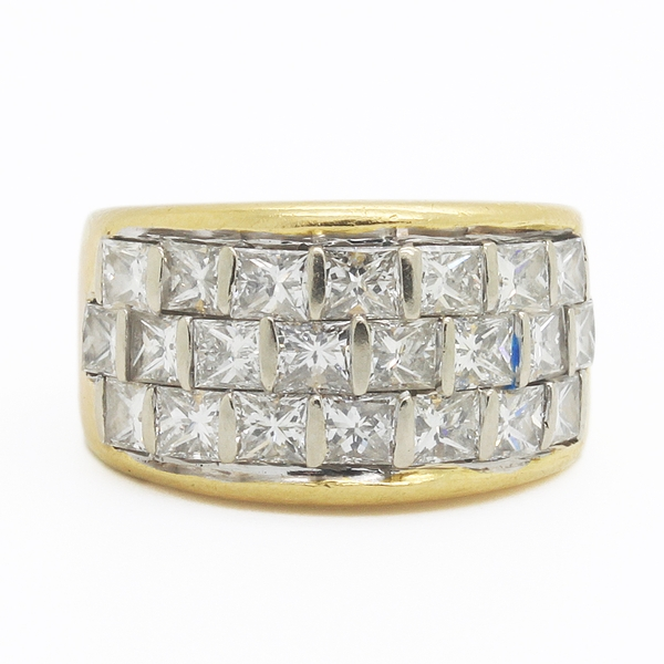Princess Cut Diamond Band - Item # NAC001 - Reliable Gold Ltd.