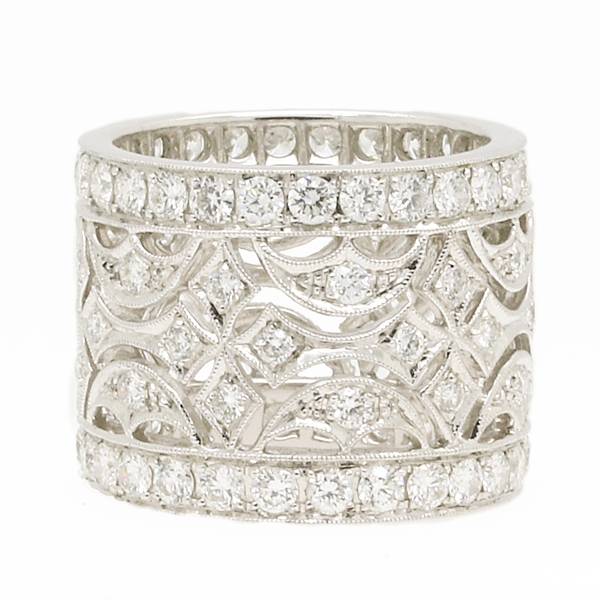 Wide Openwork Diamond Band - Item # R1776 - Reliable Gold Ltd.