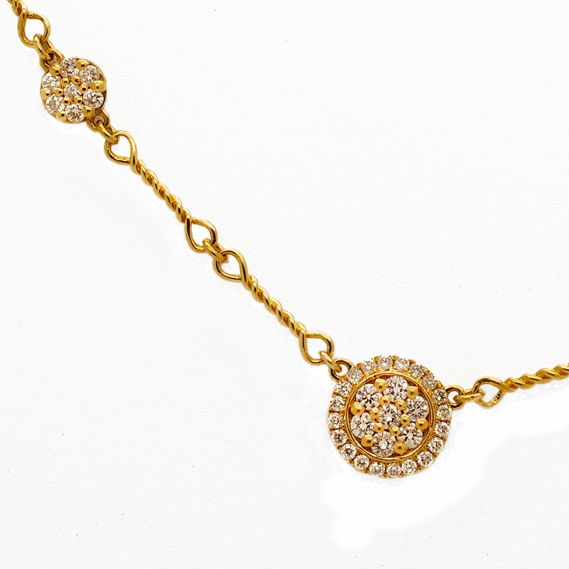 Diamonds In Yellow Gold Necklace - Item # N0125 - Reliable Gold Ltd.