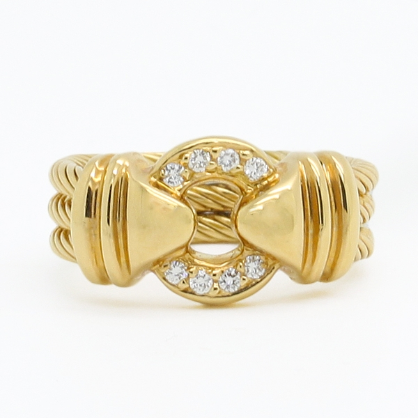 Open Circle Diamond Ring - Item # R0576 - Reliable Gold Ltd.