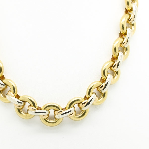 Open Link Reversible Necklace - Item # N0344 - Reliable Gold Ltd.