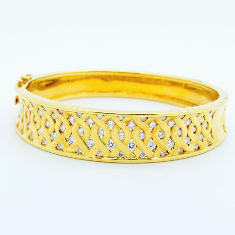 Classic Lattice-Style Diamond Bracelet - Item # B2697A - Reliable Gold Ltd.